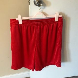 Men Red BasketBall Shorts L